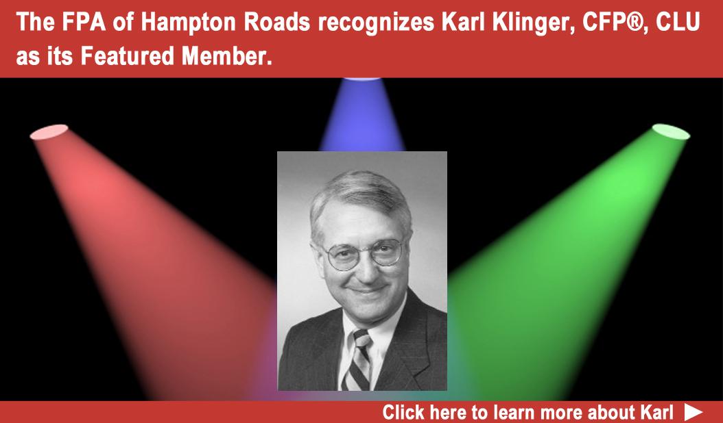 FPA of Hampton Roads Featured Member Karl Klinger